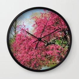 Spring Crabapple Blooms Wall Clock