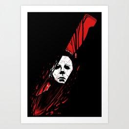 Hell-O-Ween Myers knife Art Print