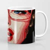 the office Mugs featuring Office style by AsyaCreativeArt
