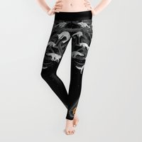 line Leggings featuring GHOSTS  by Sandra Dieckmann