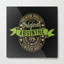 Absinthe - Green Fairy - 07 - dark Metal Print