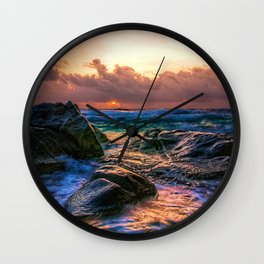 Sunset Storm Wall Clock
