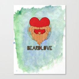 Beard Love Canvas Print