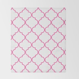 Quatrefoil - Bubblegum Throw Blanket