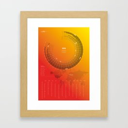 Bureau Oberhaeuser Calendar 2016 orange, english Framed Art Print