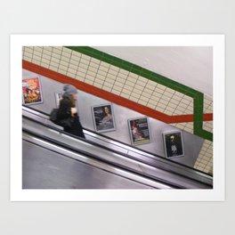 London subway Art Print