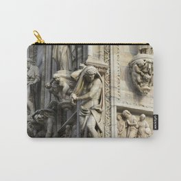 Milan Duomo Cathedral Sculpture Sudy, Italy Carry-All Pouch