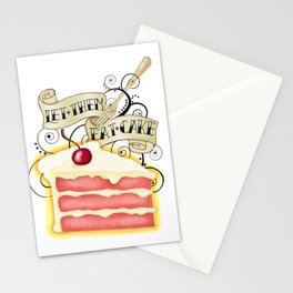 Let Them Eat Cake Vintage Tattoo Style Stationery Cards