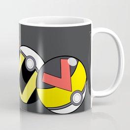 Pokeballs Black & Gray theme Coffee Mug