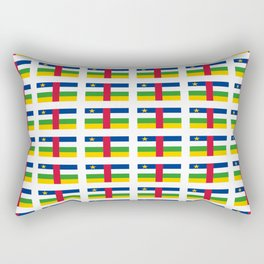 Flag of Central African Republic,car, Bêafrîka,centrafrique,Central African, centrafricain,Oubangui- Rectangular Pillow