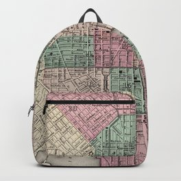 Vintage Map of Baltimore MD (1873) Backpack