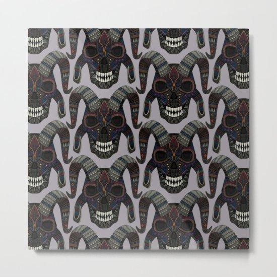 demon skull heather Metal Print