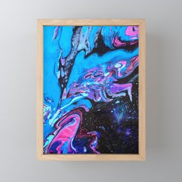 Cascade Blue Framed Mini Art Print