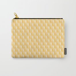 3D Optical Illusion Pattern: Yellow Dodecahedron Carry-All Pouch