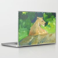 kiki Laptop & iPad Skins featuring Kiki by Paintmonkey Studios