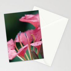 Softly Blow Petals Pink Stationery Cards