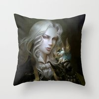 castlevania Throw Pillows featuring Alucard. Castlevania Symphony of the Night by Nell Fallcard