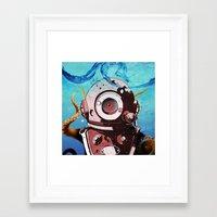 diver Framed Art Prints featuring Diver by Tony Vazquez