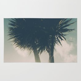 Sun blasted Palm trees Rug