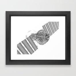 Explorer White and Grey Framed Art Print