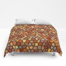 Fall Colors Mosaic Pattern - dark Comforters