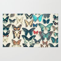 cassia beck Area & Throw Rugs featuring Wings by Cassia Beck