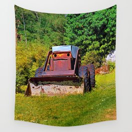 Old abandoned snow removing vehicle Wall Tapestry
