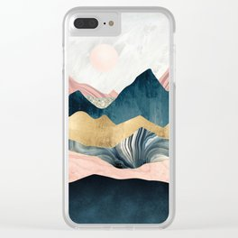 Plush Peaks Clear iPhone Case