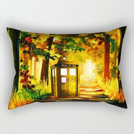 TARDIS PAINTING Rectangular Pillow