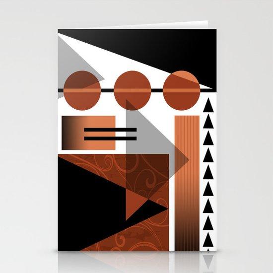 AZTEC DESERT | brown Stationery Cards