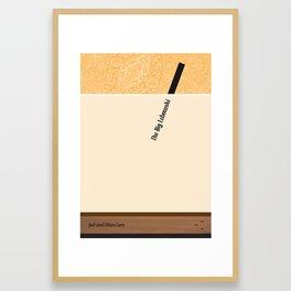 The Big Lebowski - Joel and Ethan Coen Framed Art Print