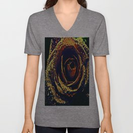 Rose with tears crossing Unisex V-Neck