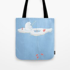 Gone Ice Fishin' Tote Bag