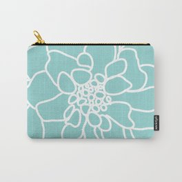 peony blue Carry-All Pouch