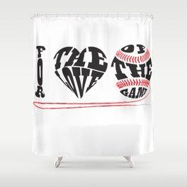 I Love Baseball Shower Curtain
