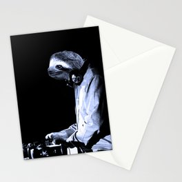 DJ Sloth Stationery Cards
