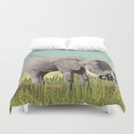 Monkeying Around the Trunk Duvet Cover