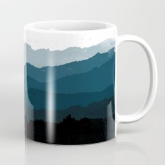 Mists No. 6 - Ombre Blue Ridge Mountains Art Print  Mug