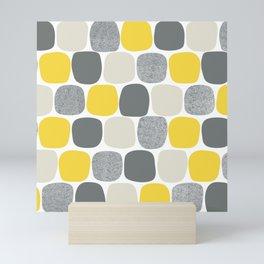 Wonky Ovals in Yellow Mini Art Print