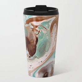 Bold Colorful Fluid Abstract Print Travel Mug
