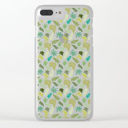 Woodland Ferns Illustrated Pattern Clear iPhone Case