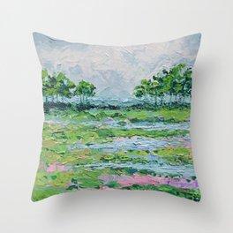 Marsh Romance No. 2 Throw Pillow