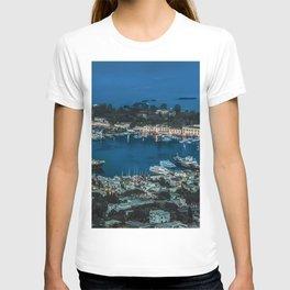 Photo Italy Ischia ship Bay Berth Evening Houses Cities Ships Pier Marinas Building T-shirt