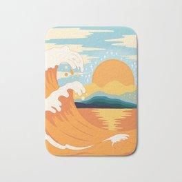 Orange wave Bath Mat