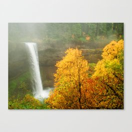 Waterfall into Fall Canvas Print