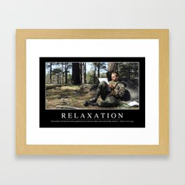 Relaxation: Inspirational Quote and Motivational Poster Framed Art Print