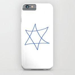 Star of David 18- Jerusalem -יְרוּשָׁלַיִם,israel,hebrew,judaism,jew,david,magen david iPhone Case