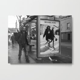 Black and white downtown streetphotography Metal Print