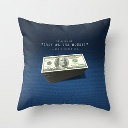 Show Me The Money - USD on Jeans Throw Pillow