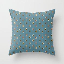 Cake Pop Parade - Blue Throw Pillow